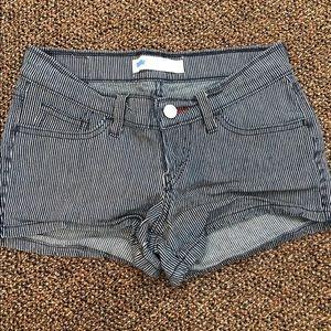 Levi's Striped Jean Shorts